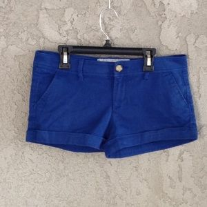 Women's Abercrombie and Fitch blue denim shorts